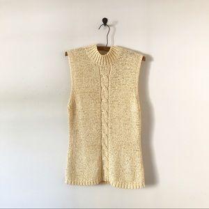 3/$30 Liz Claiborne Cream Knit Sweater Vest